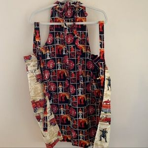 Chef's Apron Firehouse Dalmatian Reversible Red